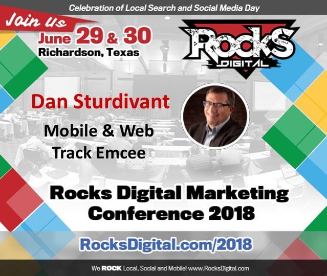 Dan Sturdivant, SEO Pro, to Emcee the Mobile and Web Track at Rocks Digital 2018